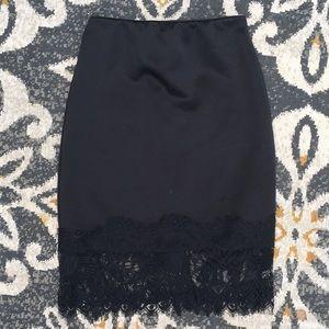 Charlotte Russe Black Mini Pencil Skirt